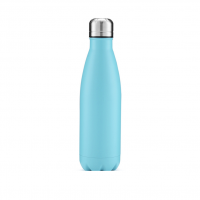 stainless steel water bottles, blue water bottle, water bottles, plastic free, seed wellness, seed products